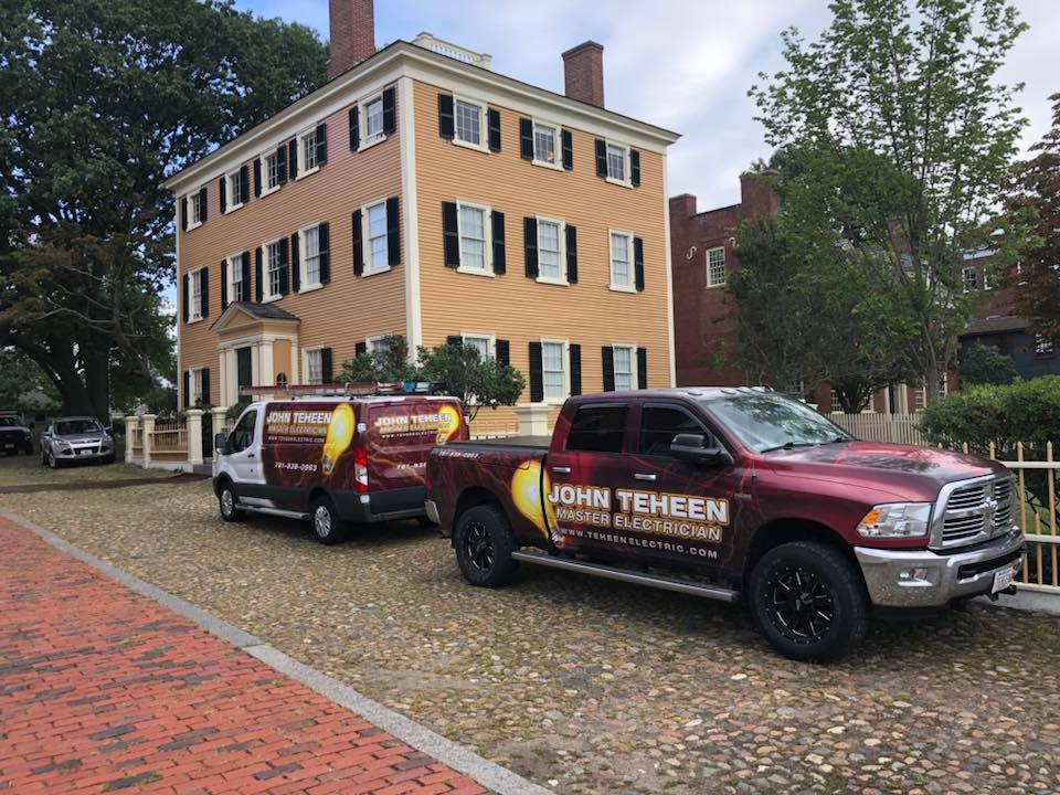 John Teheen trucks on the job at a historical property in Salem